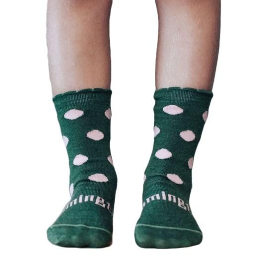 Lamington Socks Thyme Merino Wool Crew Socks 2-6Y