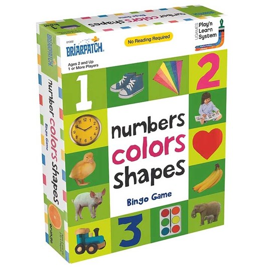 University Games Numbers Colors Shapes Bingo Game