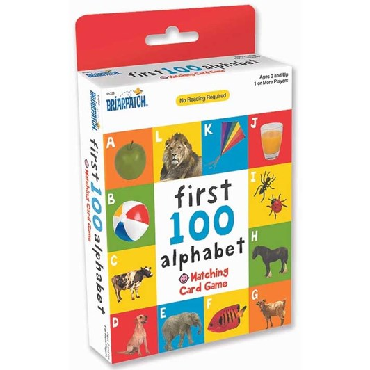University Games First 100 Matching Card Game - Alphabet