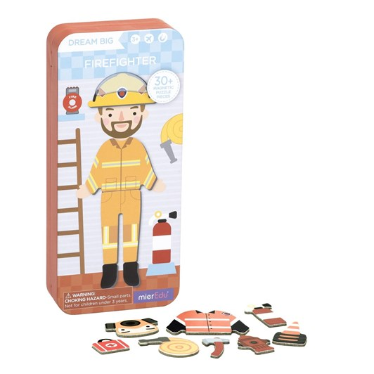 Mieredu Travel Magnetic Puzzle Box - Dream Big Series Firefighter