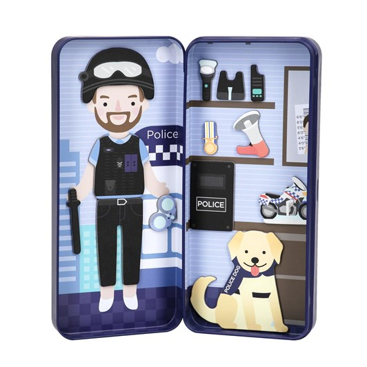 Mieredu Travel Magnetic Puzzle Box -Dream Big Series Police Officer