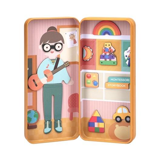 Mieredu Travel Magnetic Puzzle Box - Dream Big Series Preschool Teacher