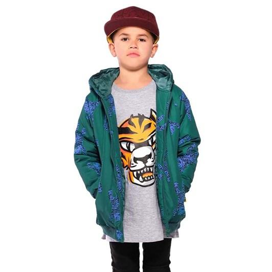 Band of Boys Easy Tiger Repeat Rain Bomber Jacket