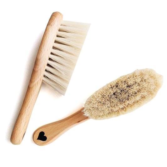 Lullalove Hairbrush Set - Honey Pattern