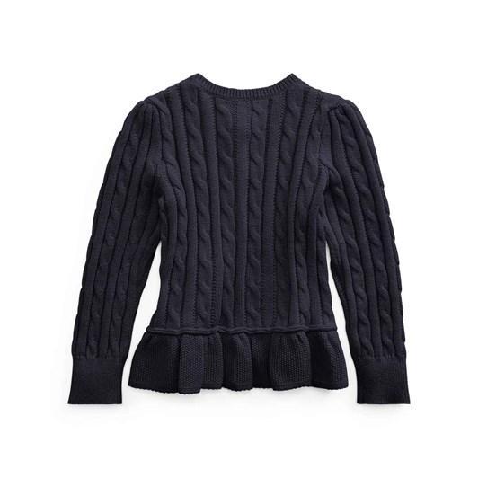 Polo Ralph Lauren Cable Cotton Peplum Cardigan 5-6Y