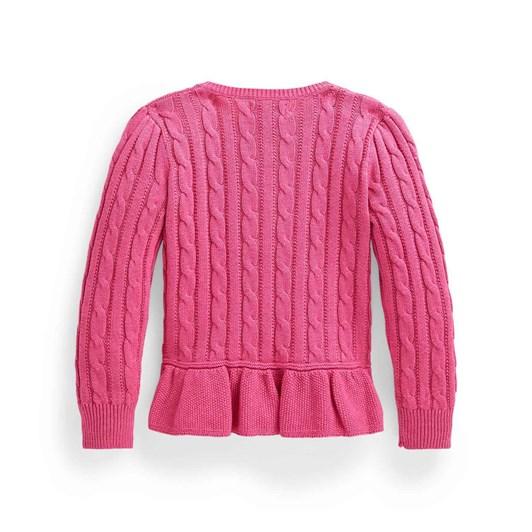 Polo Ralph Lauren Cable Cotton Peplum Cardigan 2-4Y