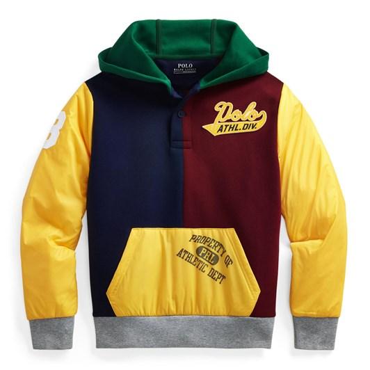Polo Ralph Lauren Color-Blocked Hybrid Hoodie