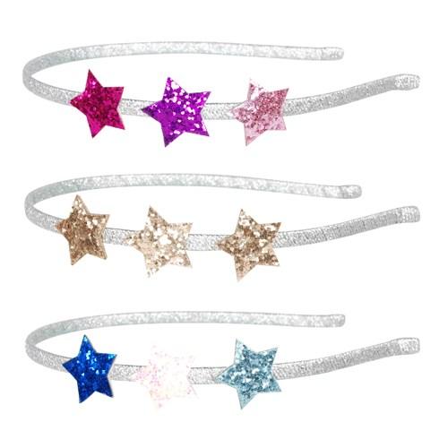 Pink Poppy Glittery Star Headband