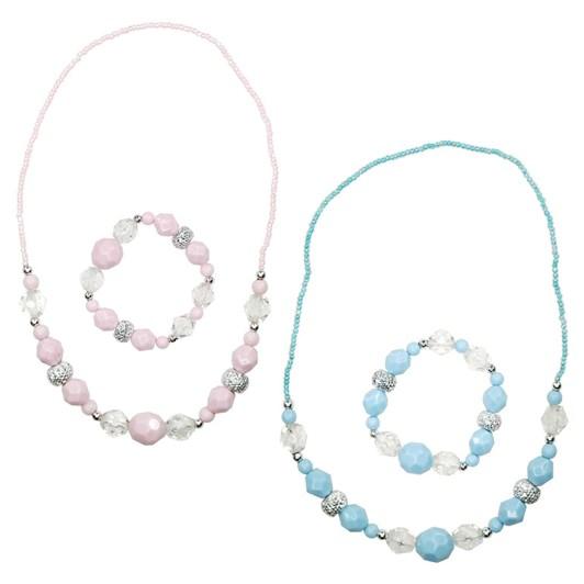 Pink Poppy Heirloom Necklace & Bracelet Set