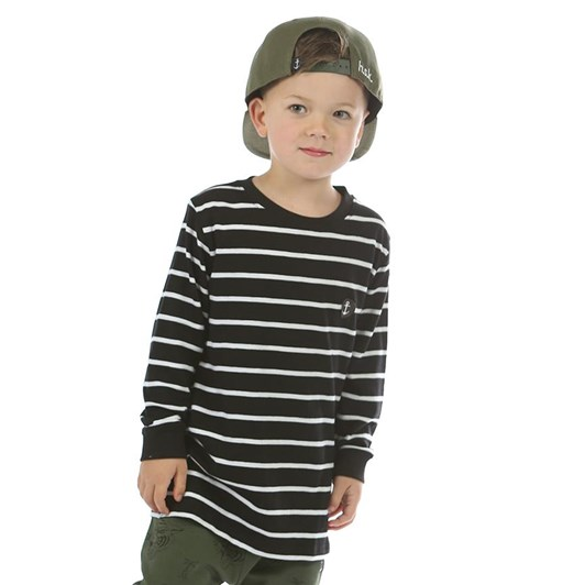 Hello Stranger Stripes On Stripes Long Sleeve Tall Tee 3-7Y