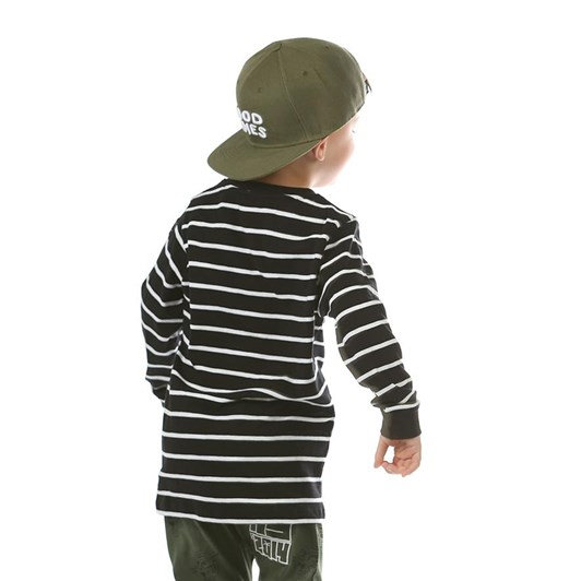 Hello Stranger Stripes On Stripes Long Sleeve Tall Tee 8-10Y