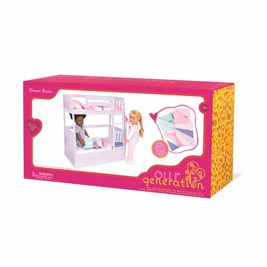 Our Generation Dolls Accessory Bunk Bed