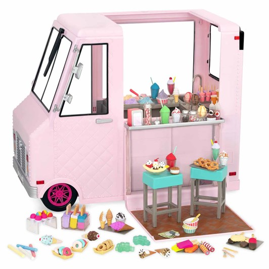 Our Generation Dolls Ice Cream Truck - Pink