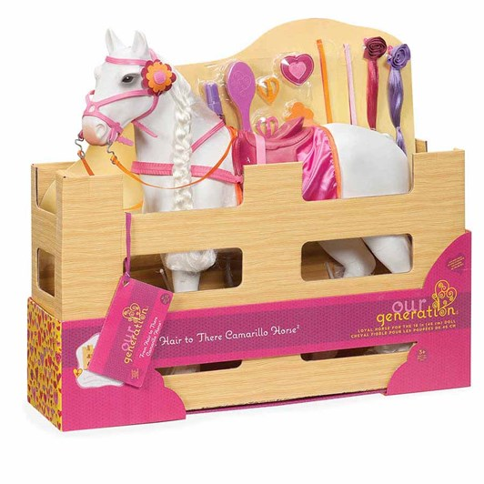 "Our Generation Dolls 20"" Camarillo Hair Play Horse For Hair Play"