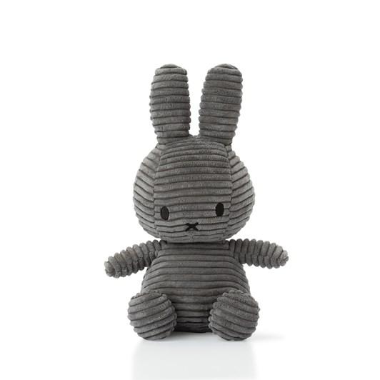 Miffy Sitting Corduroy Grey 23Cm