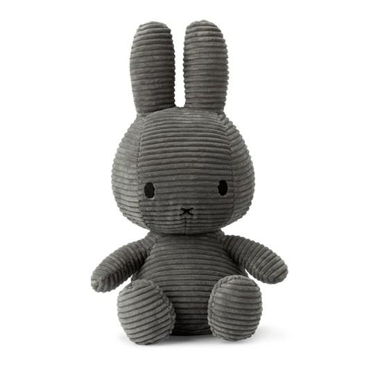 Miffy Sitting Corduroy Grey 33Cm