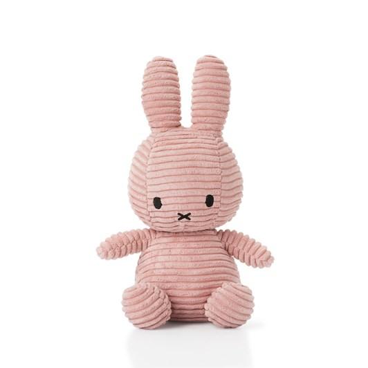 Miffy Sitting Corduroy Pink 23Cm
