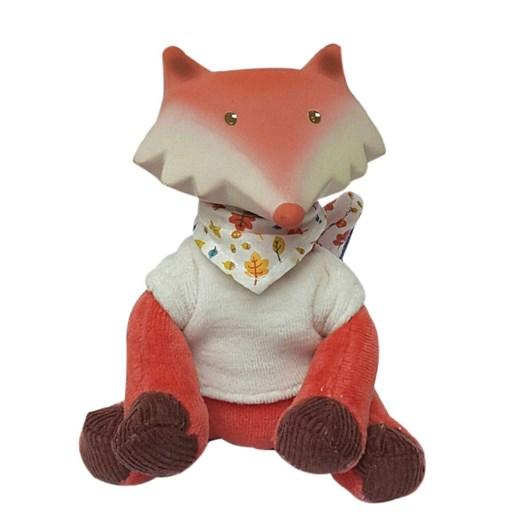 Meiya & Alvin Goodnight Fox With Vest & Natural Teether Head