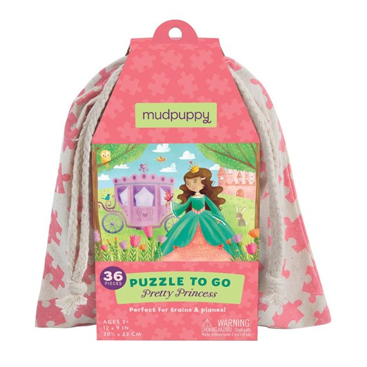 Mudpuppy Puzzle To Go - Pretty Princess 36pc