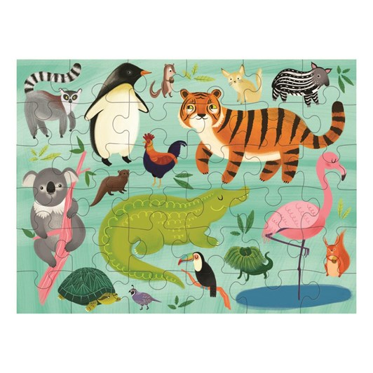 Mudpuppy Puzzle To Go - Animals of the World 36pc