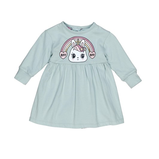 Huxbaby Bunny Love Reversible Long Sleeve Dress 3-5Y