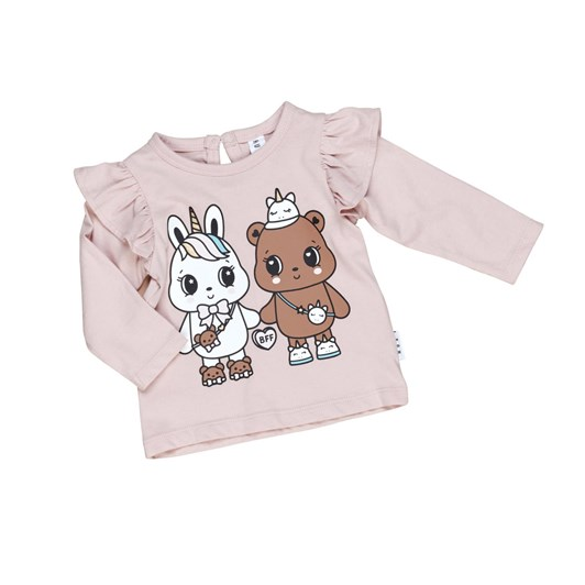 Huxbaby Furry Friends Frill Top 0M-2Y