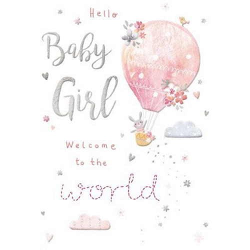 Oxted Hello Baby Girl Card