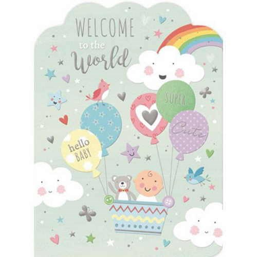 Oxted Welcome To The World Card
