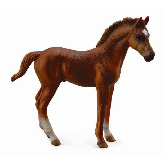 CollectA Thoroughbred Foal Standing Chestnut Figurine