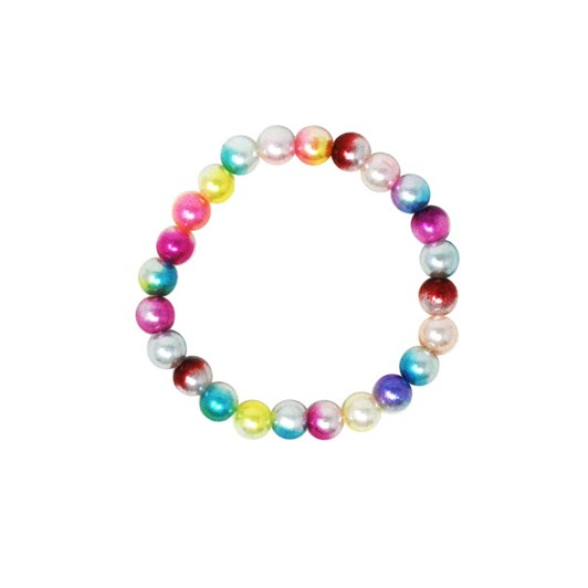 Pink Poppy Rainbow Pearl Necklace & Bracelet Set