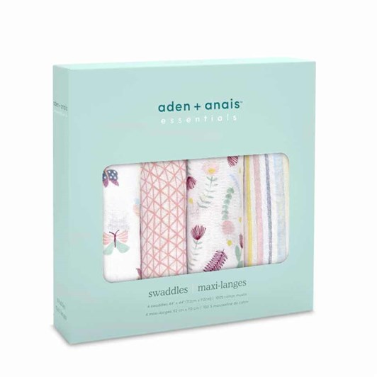 Aden + Anais Essential 4 Pack Muslin Swaddles