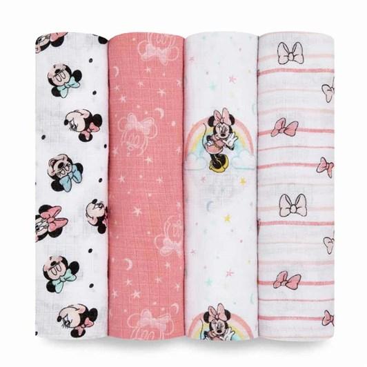 Aden + Anais 4 Pack Essential Disney Baby Swaddleplus
