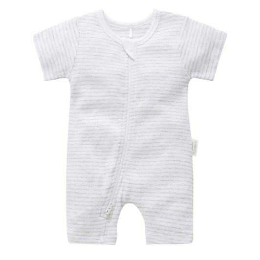 Purebaby S/S Short Leg Zip Growsuit