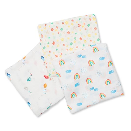 Lulujo 3Pack Bamboo Swaddle - High In Sky