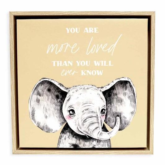 Splosh Baby Elephant Framed Canvas 34X34