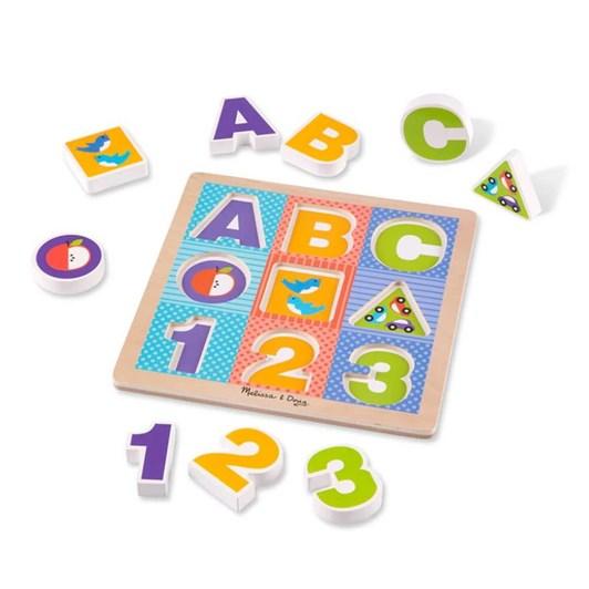 Melissa & Doug ABC 123 Chunky Puzzle