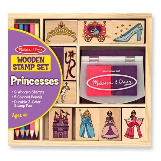 Melissa & Doug Princess Wooden Stamp Set