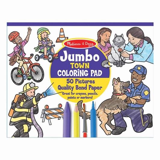 Melissa & Doug Colouring Pads Jumbo Town