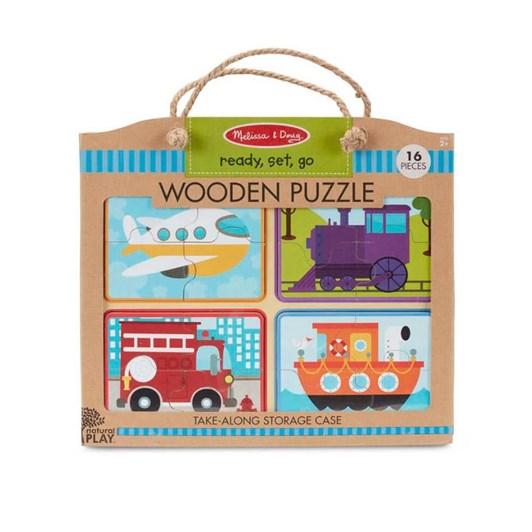 Melissa & Doug Ready-Set-Go! Wooden Puzzle