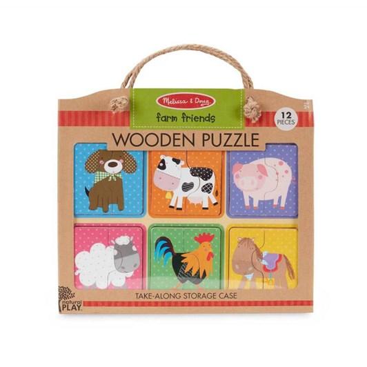 Melissa & Doug Farm Friends Wooden Puzzle