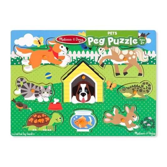 Melissa & Doug Friendly Pets Peg Puzzle