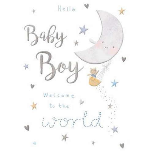 Oxted Hello Baby Boy Card
