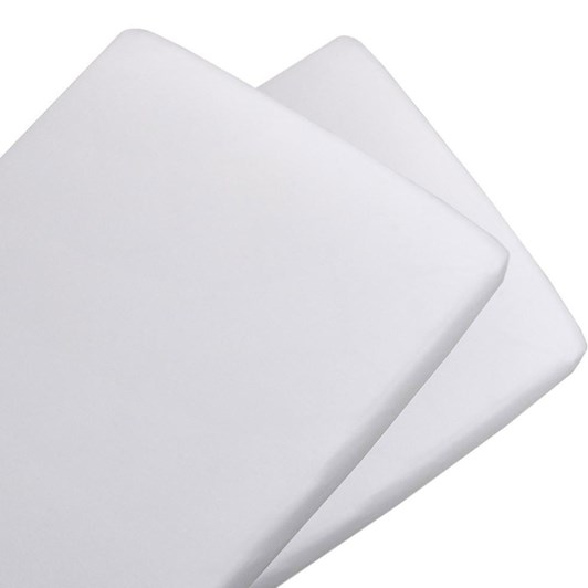 Living Textiles 2 Pack Jersey Bassinet Fitted Sheet