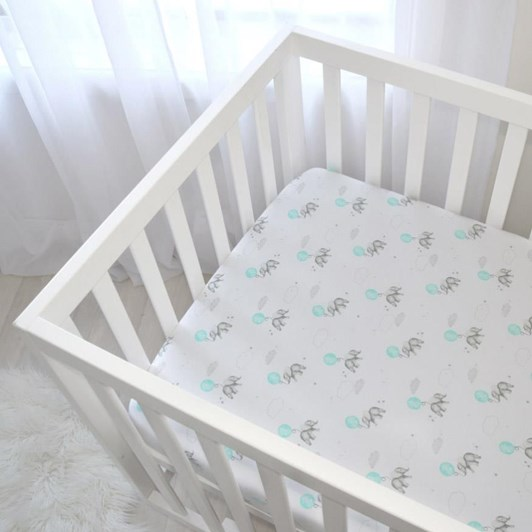 Living Textiles Jersey Cot Fitted Sheet