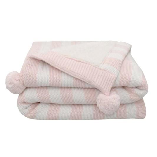 Living Textiles Pom Pom Sherpa Blanket