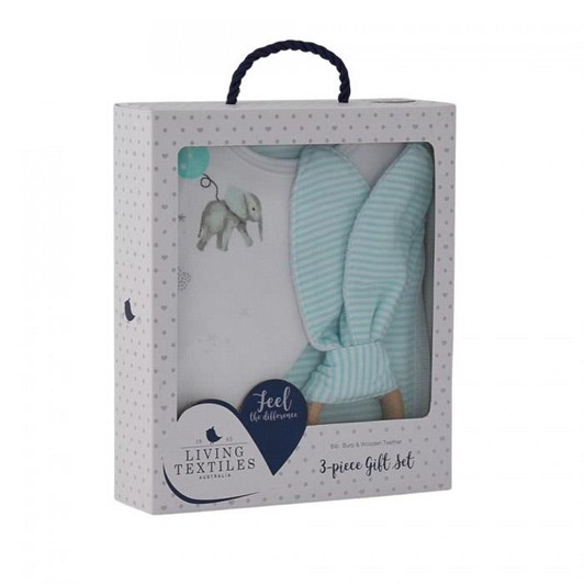 Living Textiles Bib, Burp & Teeth Set