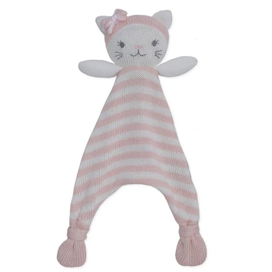 Living Textiles Daisy The Cat Knit Security Blanket