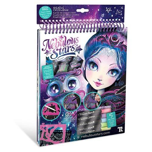 Nebulous Stars Zentangle Sketchbook Black