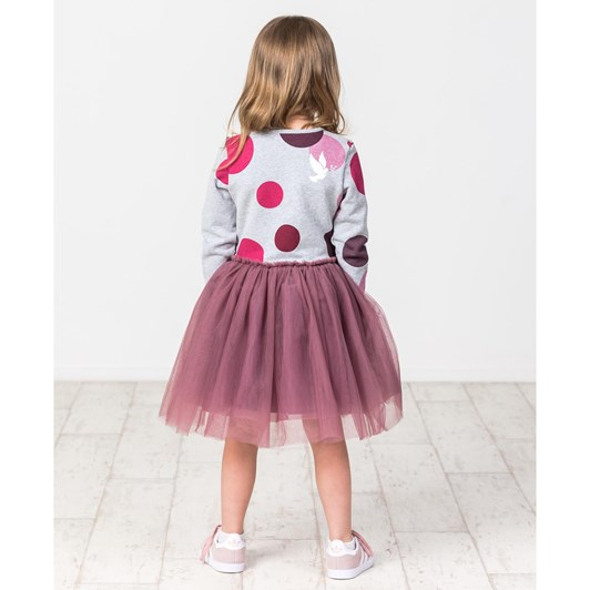 Kissed By Radicool Winter Berry Polka Dot Tutu