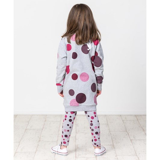 Kissed By Radicool Winter Berry Polka Dot Sweater Dress